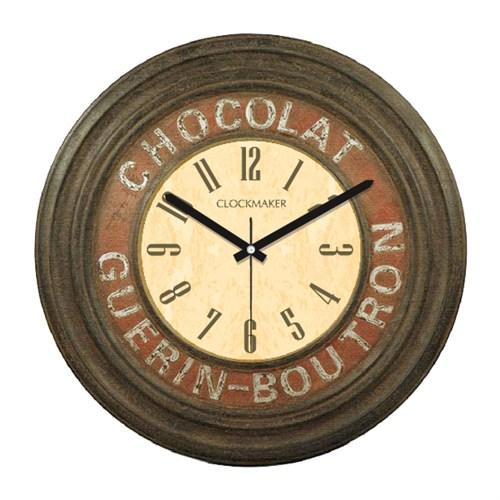 Clockmaker By Cadran Retro Vintage 30X30 Mdf Duvar Saati Cmm159