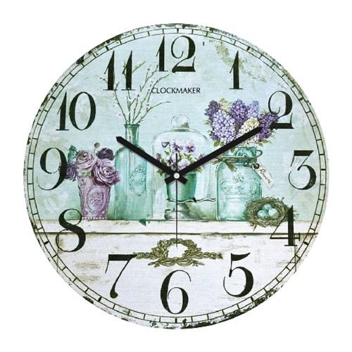 Clockmaker By Cadran Retro Vintage 30X30 Mdf Duvar Saati Cmm161