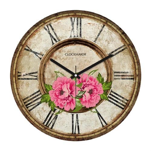 Clockmaker By Cadran Retro Vintage 30X30 Mdf Duvar Saati Cmm163