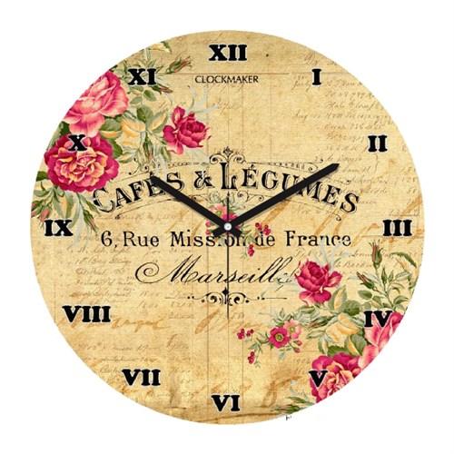 Clockmaker By Cadran Retro Vintage 30X30 Mdf Duvar Saati Cmm176