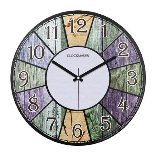 Clockmaker By Cadran Retro Vintage 30X30 Mdf Duvar Saati Cmm177