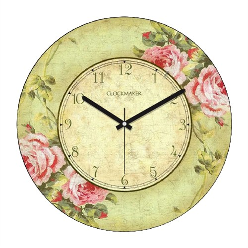 Clockmaker By Cadran Retro Vintage 30X30 Mdf Duvar Saati Cmm26