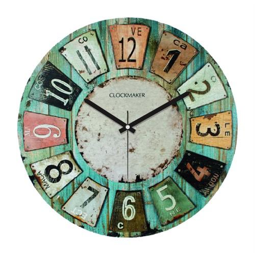Clockmaker By Cadran Retro Vintage 30X30 Mdf Duvar Saati Cmm28