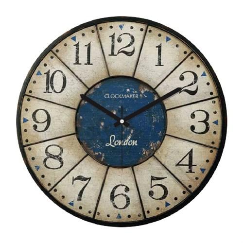 Clockmaker By Cadran Retro Vintage 30X30 Mdf Duvar Saati Cmm34