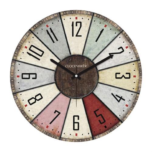 Clockmaker By Cadran Retro Vintage 30X30 Mdf Duvar Saati Cmm37