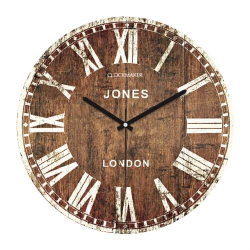 Clockmaker By Cadran Retro Vintage 30X30 Mdf Duvar Saati Cmm52