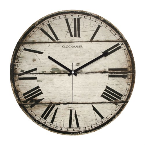 Clockmaker By Cadran Retro Vintage 30X30 Mdf Duvar Saati Cmm58