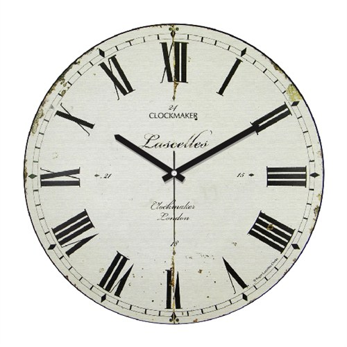 Clockmaker By Cadran Retro Vintage 30X30 Mdf Duvar Saati Cmm67