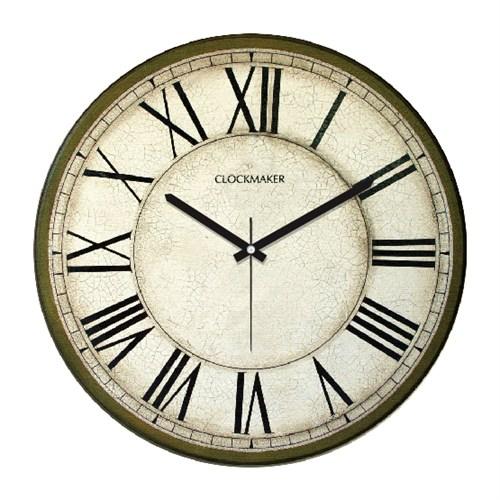 Clockmaker By Cadran Retro Vintage 30X30 Mdf Duvar Saati Cmm75