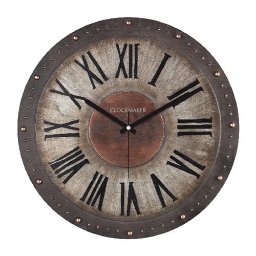 Clockmaker By Cadran Retro Vintage 30X30 Mdf Duvar Saati Cmm81