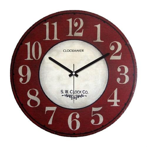 Clockmaker By Cadran Retro Vintage 30X30 Mdf Duvar Saati Cmm85