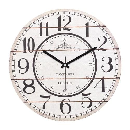 Clockmaker By Cadran Retro Vintage 30X30 Mdf Duvar Saati Cmm97