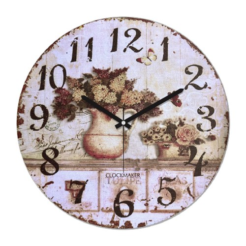 Clockmaker By Cadran Retro Vintage 30X30 Mdf Duvar Saati Cmm99