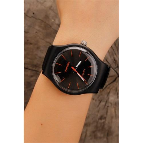 Morvizyon İç Detayı Siyah Bayan Saat