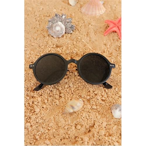 Morvizyon Clariss Marka Siyah Model Yuvarlak Çerçeve Tasarımlı Bayan Gözlük