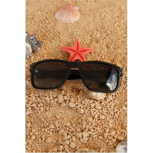 Morvizyon Clariss Marka Siyah Çerçeveli Siyah Cam Tasarımlı Unisex Güneş Gözlük Modeli