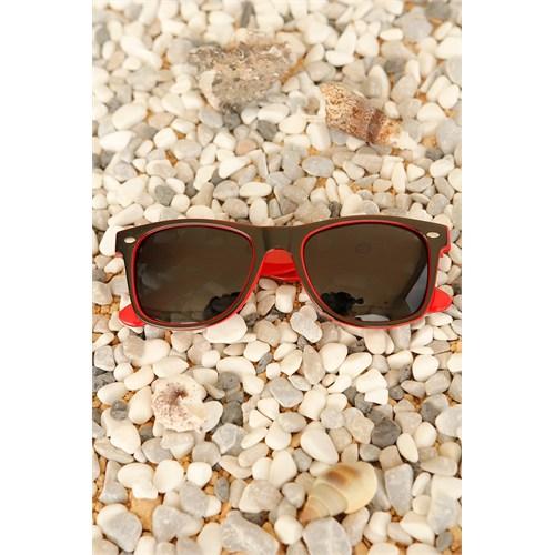 Morvizyon Clariss Marka Kırmızı & Siyah Renk Tasarımlı Unisex Güneş Gözlük Modeli