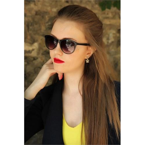 Morvizyon Clariss Marka Siyah Şık Yuvarlak Tasarımlı Şık Bayan Güneş Gözlük Modeli