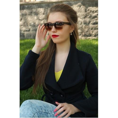 Morvizyon Clariss Marka Yarım Çerçeve Tasarımlı Desenli Bayan Güneş Gözlük Modeli