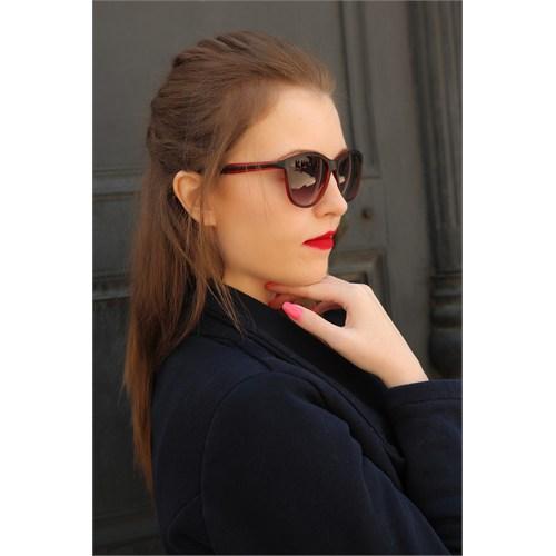Morvizyon Clariss Marka Yeni Trend Kırmızı Detaylı Bayan Gözlük