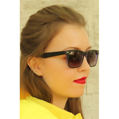 Morvizyon Clariss Marka Geniş Çerçeveli Mor Detaylı Bayan Gözlük