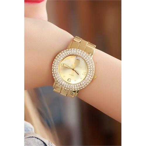Morvizyon Clariss Marka Sarı Kaplama Bayan Saat