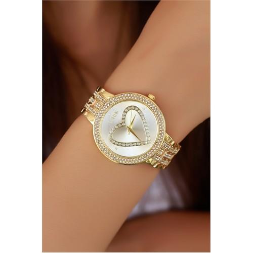 Morvizyon Clariss Marka Sarı Kaplama Renk Bayan Saat