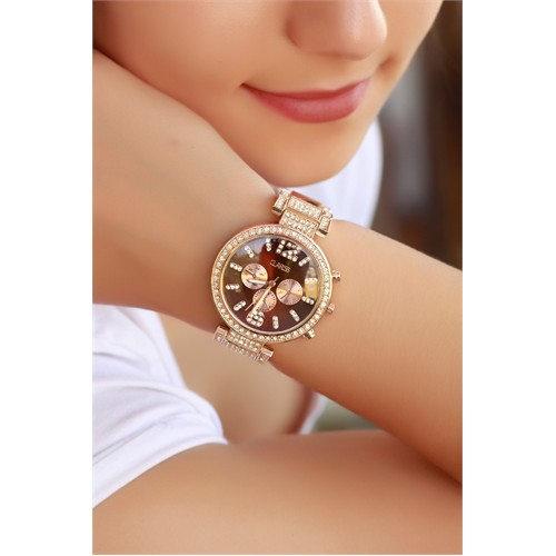 Morvizyon Clariss Marka Bronz Renk Tasarımlı Bayan Saat