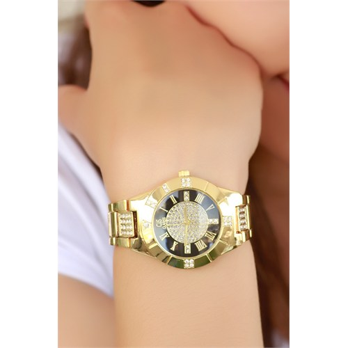 Morvizyon Clariss Marka Siyah İç Tasarımlı Bayan Saat