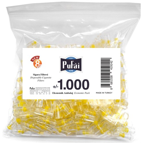 Pufai Disposable Cigarette Filters Economic Pack 1000 – Pufai Tek Kullanımlık Sigara Filtresi 1000 Adet Ekonomik Ambalaj