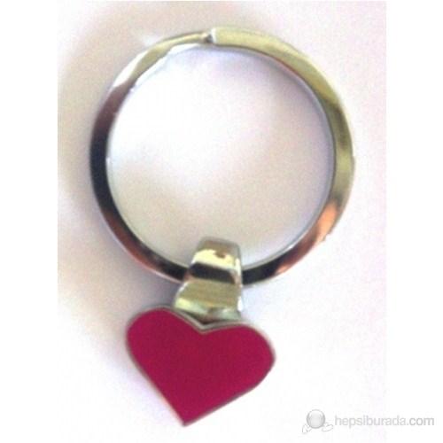 Nektar J03-011 Kırmızı Kalp Metal Anahtarlık