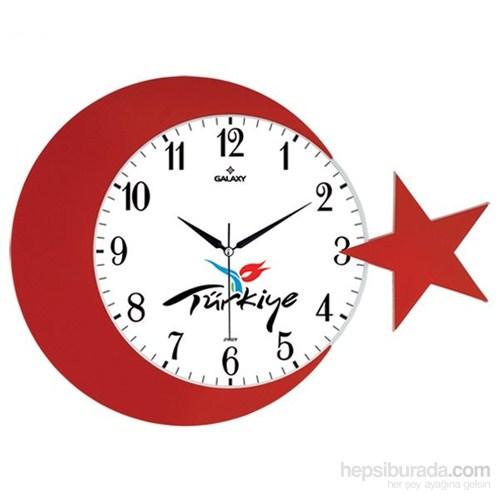 Galaxy Ay Yıldız Duvar Saati Türkiye