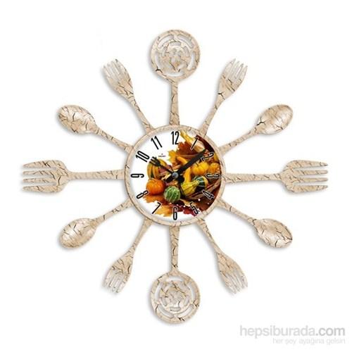 Galaxy Çatal Kaşık Duvar Saati Aşçı Kabak