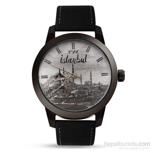 İstanbul Temalı Özel Tasarım Siyah Th Kol Saati 9X7a7508