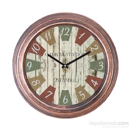 Cadran 1108-26 Dekoratif Vintage Duvar Saati Bakır Dilimli-2