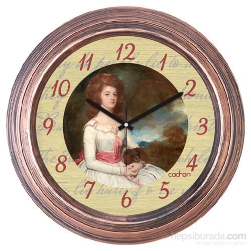 Cadran 1108-31 Dekoratif Vintage Duvar Saati Bakır Lady-3