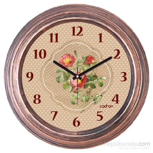 Cadran 1108-51 Dekoratif Vintage Duvar Saati Bakır Puantiyeli