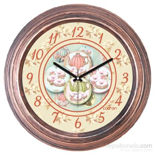 Cadran 1108-77 Dekoratif Vintage Duvar Saati Bakır Demlikler