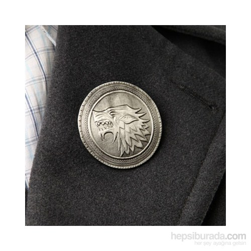 Game Of Thrones Shield Pin: Stark Rozet
