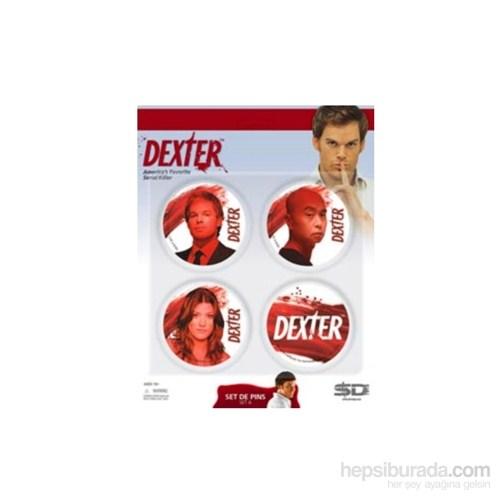 Dexter 4 Badges Set A Dexter 4'Lü Rozet Seti
