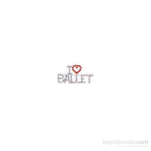 Taşlı I Love Ballet Yaka İğnesi