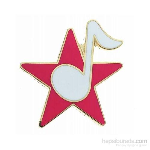 Yıldız Üzeri 8 Lik Nota Yaka İğnesi