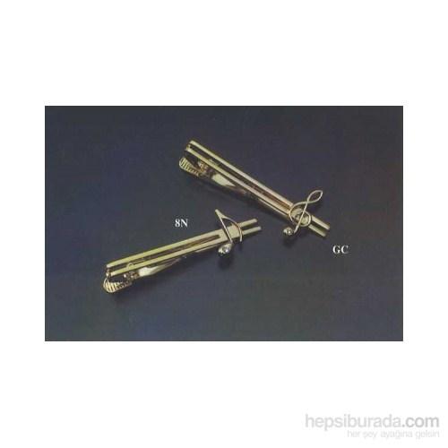Gümüş Ve Altın Kaplama Notalı Kristal Taşlı Kravat İğnesi