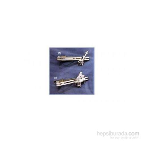 Piyanolu Gümüş Kravat İğnesi