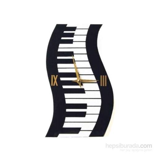 Dalgalı Piyano Tuşeli Duvar Saati
