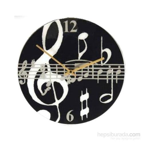Notalı - Sol Anahtarlı Duvar Saati
