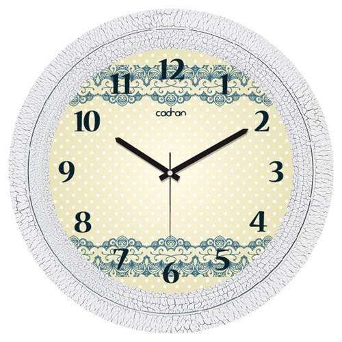 Cadran Dekoratif Vintage Çatlak Desen Duvar Saati Puantiyeli Motifler