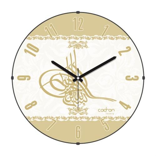 Cadran Luxury Bombeli Cam Duvar Saati Tuğra