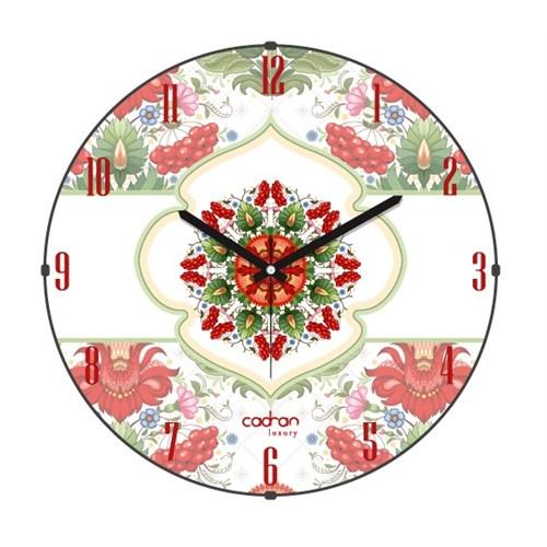 Cadran Luxury Bombeli Cam Duvar Saati Ukrayna Deseni-4