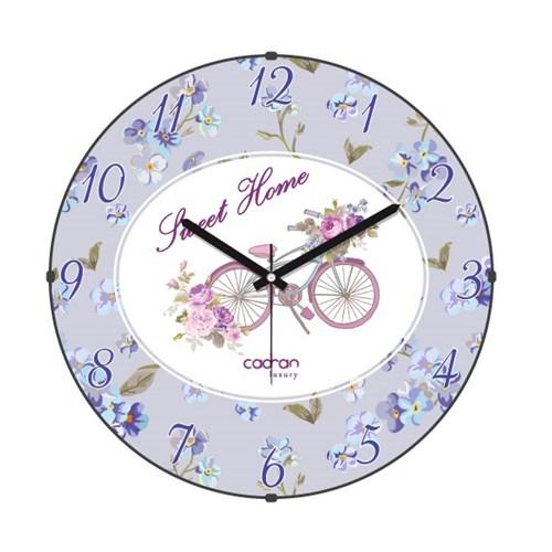 Cadran Luxury Sweet Home Bombeli Cam Duvar Saati Bisiklet-4